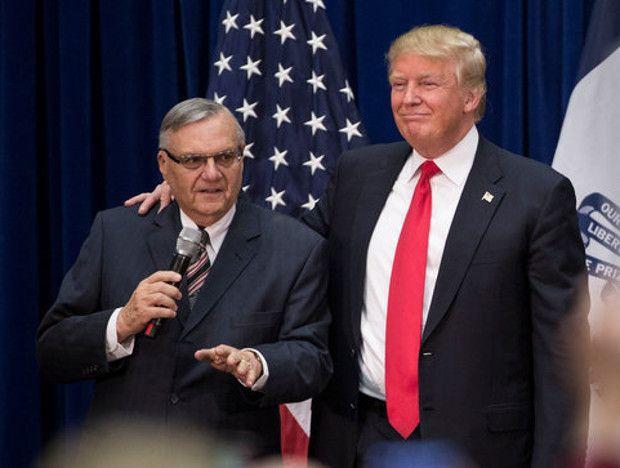 Sheriff Joe Arpaio and President Trump