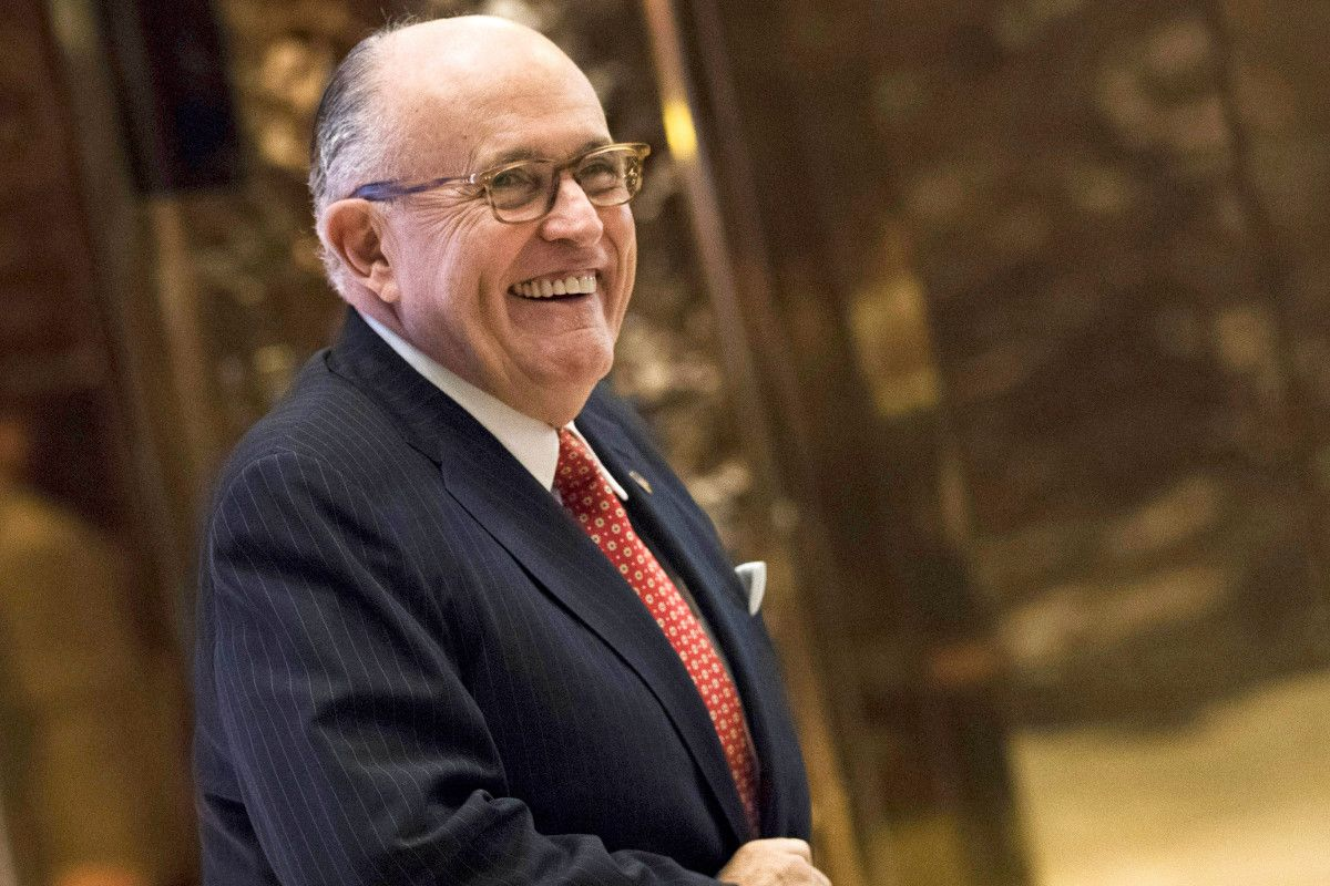 """Rudy Giuliani Takes in """"Camelot"""" in DC, Gets a Shoulder Rub During """"Lusty Month of May"""""""