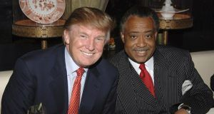 Al Sharpton with Donald Trump