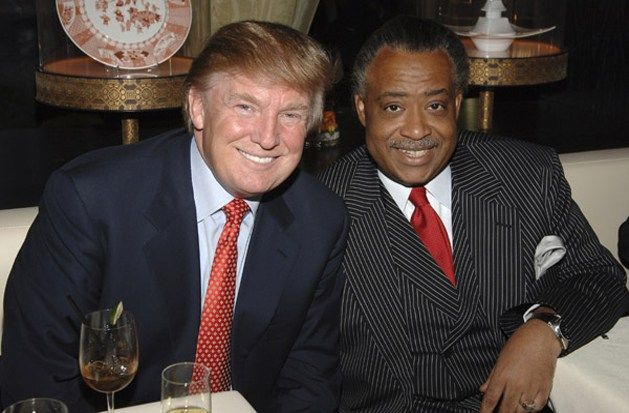 Al Sharpton with Donald Trump