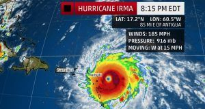 Hurricane Irma heading for Florida
