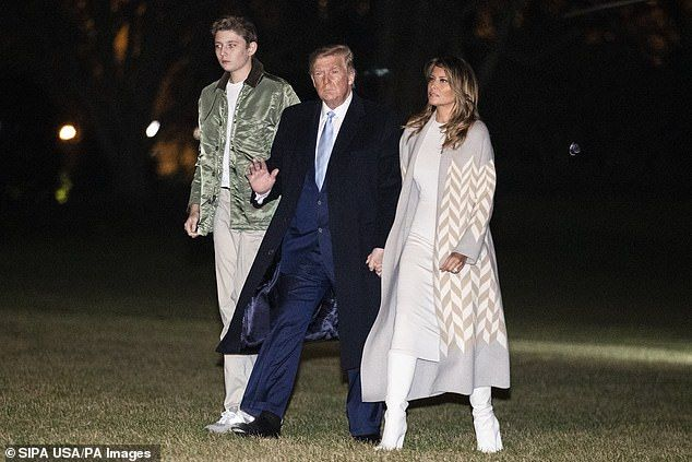 Over His 14-year-old Photos: Dad Barron 6'3″ Trump  Towers
